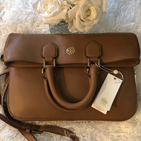 4743940457e Tory Burch Robinson Pebbled Foldover Messenger Bag.  M 5ae9b36df9e501a2f3ad3864